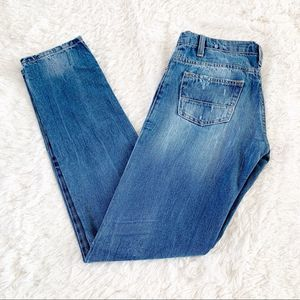 Brian Dales Distressed Boot Cut Jeans Size 28